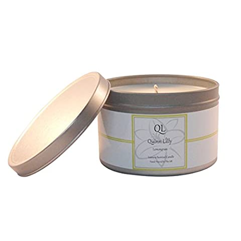Lemongrass Soy Scented Travel Candle Tin By Quinn Lilly, 30+