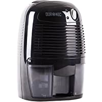 Duronic DH05 Mini Compact Black 500ml Portable 22.5W Air Dehumidifier for Mould / Damp and Moisture - Perfect for small rooms and spaces in the home / office / caravan etc. - Includes 2 Years Warranty