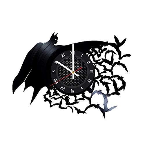Ma Va Batman Arkham Asylum Vinyl Schallplatte Wanduhr Geschenk für Fans Tolle Idee Home Decor DC Comics Vintage Dekoration-Kaufen Geschenk für Alle