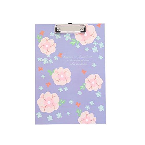 Morsetto, Tagliere scrittura clip Board A4, rigida fibra Portablocco Mini Jumbo clip groesslig; e piccoli fiori di lillà