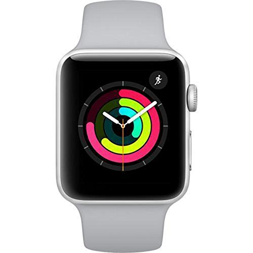 Apple 3 42mm Silver Aluminum watchOS - Apple Watch Series 3-42mm Silver Aluminum Case with Fog Sport Band, GPS, watchOS 4, MQL02