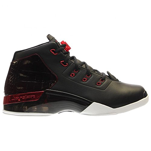 Nike Herren Air Jordan 17 + Retro Basketballschuhe, Talla Schwarz (Schwarz / Gym Rot-Weiß)