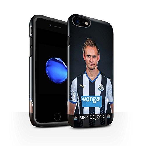Offiziell Newcastle United FC Hülle / Glanz Harten Stoßfest Case für Apple iPhone 7 / Shelvey Muster / NUFC Fussballspieler 15/16 Kollektion De Jong