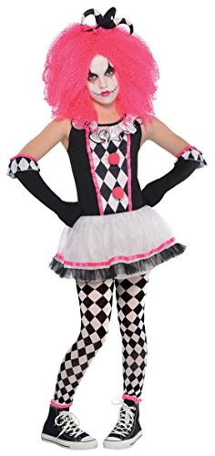 Mädchen Circus Bonbon Teen Kinder Clown Kostüm - 4-6 (Up Make Kostüm Jester Halloween)