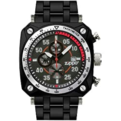 Zippo Men's Chronoghraph Multi Function Sports Watch 45019 With Black Dial