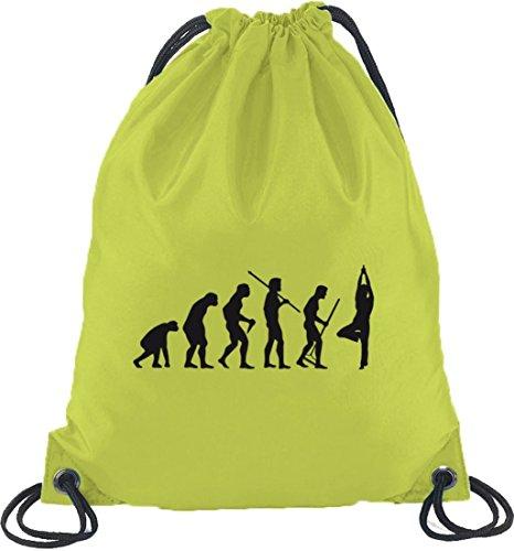 Shirtstreet24, Evolution Yoga, Palestra Zaino Sportivo Borsa Lime