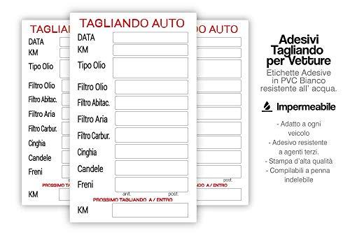 2AINTIMO Adesivo Tagliando Auto Cambio Olio Etichetta in PVC, Adesivi Impermeabile all'Acqua (10)