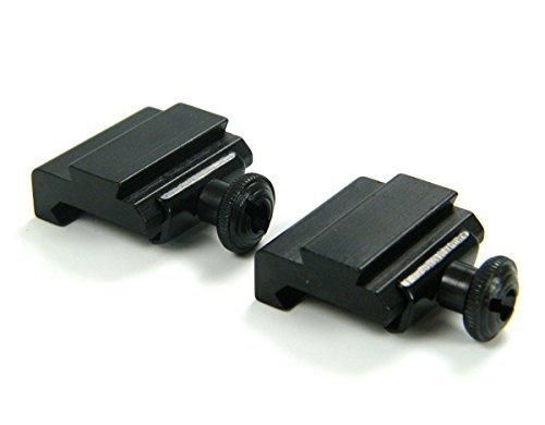2 Stück 20 mm bis 11 mm Weber Picatinny Basis Schwalbenschwanz Adapter bis Picatinny Schiene