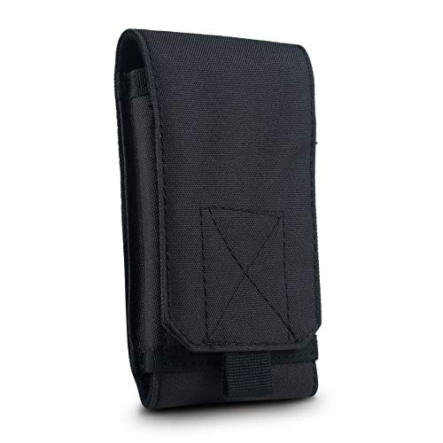 GoFree Tactical Pouch Sleeve Case with Belt Loop Up to 6.2 inch Phone (Army Black)