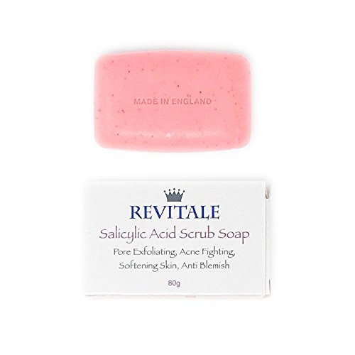 Salicylic Acid Scrub Soap  Pore Exfoliating, Acne Fighting, Softening Skin, Anti-Blemish, Removes Warts