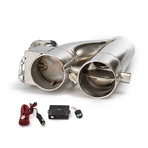 Epman TK-CUT007Y-2.5 Patentiertes Produkt 6,35 cm Elektrischer Auspuffauslass E-Cut Out Bypass-Schalter Dual-Ventil-System -
