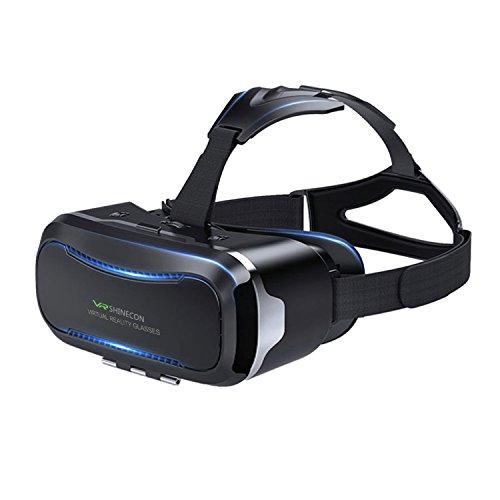 VR Brille,VR Headset,3D VR Brille, Virtuelle Realität Headset ,Virtual Reality Brille Headset für 3D Filme und Spiele, Brille Video Movie Game Brille 3D Virtual Reality Glasses,Kompatibel mit 4 ~ 6 Zoll Smartphones,für iPhone 7 7s / 6 6sPlus ,Samsung S7 S8 / Galaxy S7 Edge, HUAWEI (Schwarz)