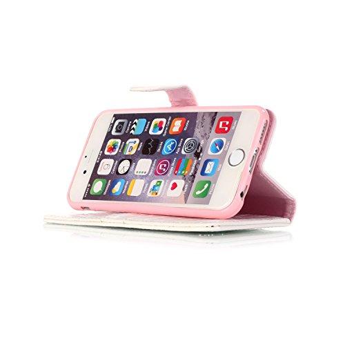 Coque iPhone 6S,Etui iPhone 6,JAWSEU Coque Etui Housse pour iPhone 6/6S 4.7,Luxe Mode Pure Cuir PU Portefeuille Etui Coque Folio en Cuir Case Housse de Protection,Homme Femme Crocodile Pu Cuir Coque U blanc