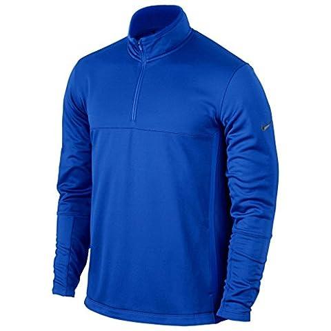 Nike Therma-Fit Cover-up Pull à manches longues pour homme XL Bleu/noir