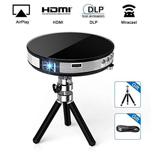 Vidéoprojecteur Full HD, Exquizon R6 Projecteur Portable WiFi Support 1080P Compatible pour USB HDMI SD VGA AV Compatible avec Fire TV Stick, Smartphone, Laptop, PS3, PS4, X-Box One