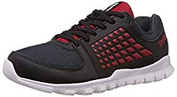 Reebok Mens Electrify Speed Grey,Red,Black And White Running Shoes - 7 UK