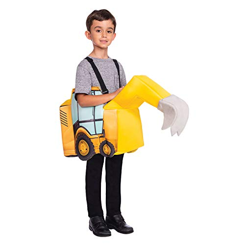 Kostüm Bagger - amscan 9904519 Kostüm Boys gelb