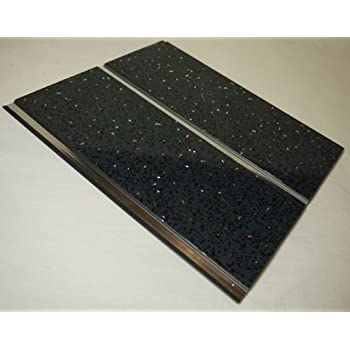 5 x PVC SPARKLE BLACK PLAIN WALL/CEILING PANELS FOR ...