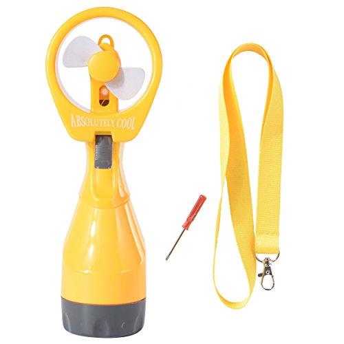 Lo más nuevo, mini ventilador de agua pulverizada de mano a pilas...