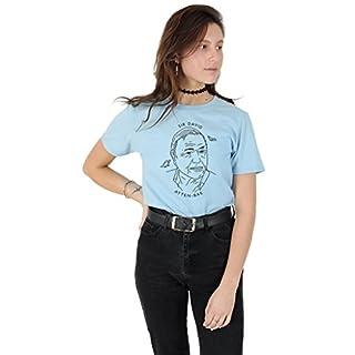 Sanfran - Sir David Atten-bae Top Tumblr 90's Retro Vintage Attenborough Bae T-Shirt - Medium/Light Blue