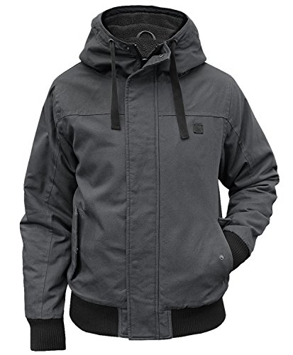 Brandit Winterjacke Grizzly mit Futter Hooded Parka Anthrazit