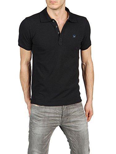 Diesel Herren T-NYX-N Poloshirt, Polo Shirt Farbe: schwarz; Größe: M (Diesel-baumwoll-polo-shirt)