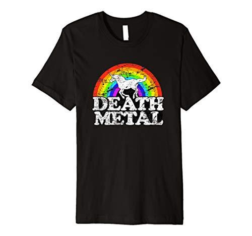 Einhorn Death Metal T Shirt-Funny Rainbow Tee -