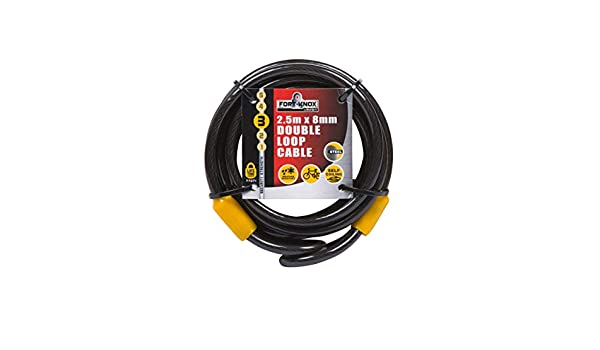 Nitaar Security Double Loop Cable Strong Braided Steel For Bike 8mm x 2.5m Chain Lock Copy