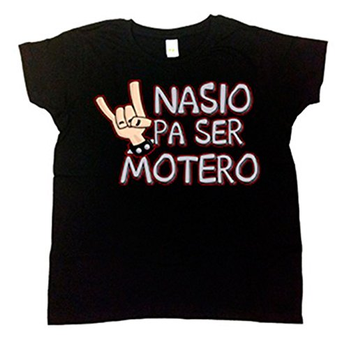 Camiseta niño Nacido para ser motero - Negro, 18-24 meses