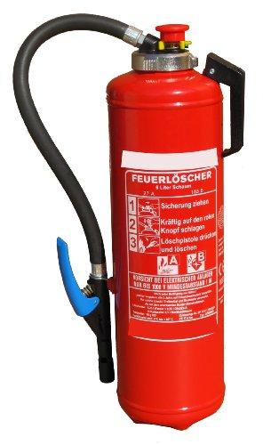Preisvergleich Produktbild Schaumlöscher Feuerlöscher 6 liter Auflade-Kartuschenlöscher 27A, 183B, 9 Löscheinheiten