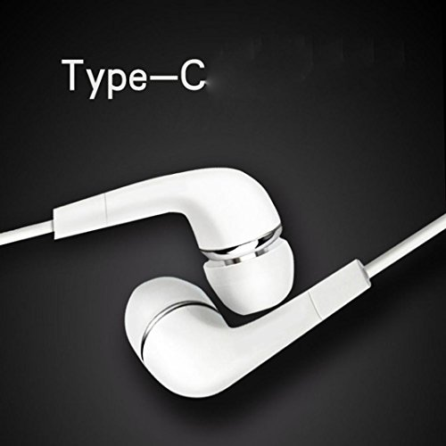 Kopfhörer für Xiaomi Mi6, Hunpta Typ-C In Ear Stereo Kopfhörer Headset Super Bass Musik Metall Kopfh (Weiß) (Ohrhörer Mit Mix)