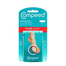 Compeed Small Size Blister Plasters, 6 Hydrocolloid Plasters, Foot Treatment, Heal fast, Dimensions: 2.0 cm x 6.0 cm