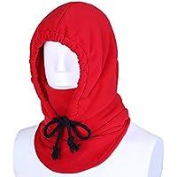 Unisex Passamontagna Sottocasco Termico In Pile Maschera di Protezione Piena Antivento Cappello per Attività All'aperto-Rosso