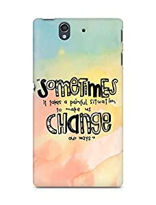 AMEZ painful situation change us Back Cover For Sony Xperia Z