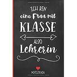 Leherin Organizer   Notizbuch: 120 linierte Seiten mit Herzmotiv DIN A5   Planer als Geschenk für Lehrer zum Geburtstag   sch