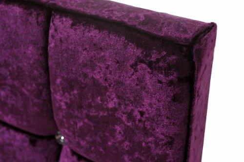 Crystal Headboard X Series in Velvet Purple -Double Size (4.6FT)