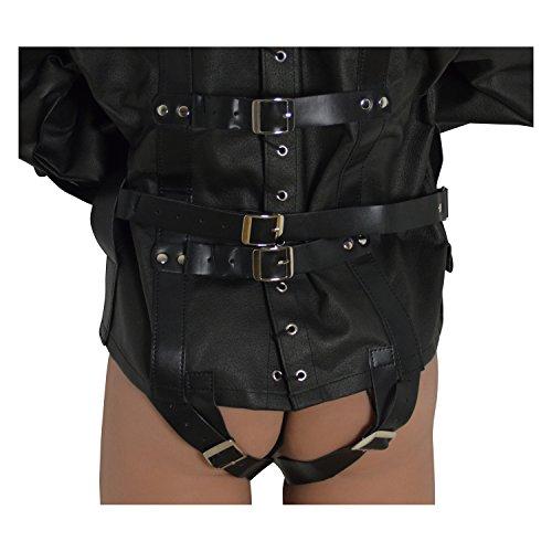 BDSM Erotik Zwangsjacke in schwarz für fesselnde Spiele - 4