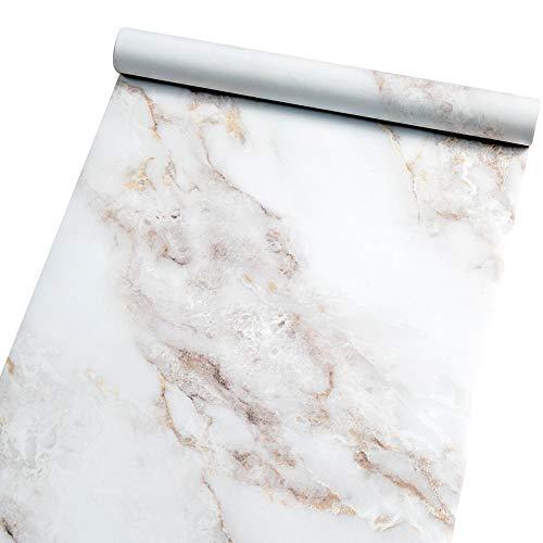 Homein Möbelfolie Marmor Folie Klebefolie Vinyl Selbstklebend Dekorfolie Fensteraufkleber PVC Aufkleber für Möbel Küche Küchenschrank Granit 60 x 200 cm -