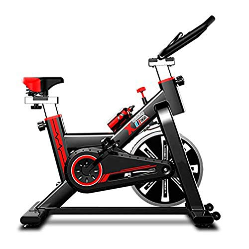 Rxrenxia heavy duty 18kg flywheel aerobica studio training bike, indoor spinning bike, cyclette indoor mute, pedal bike fitness weight loss attrezzature per l'allenamento, impugnatura regolabile