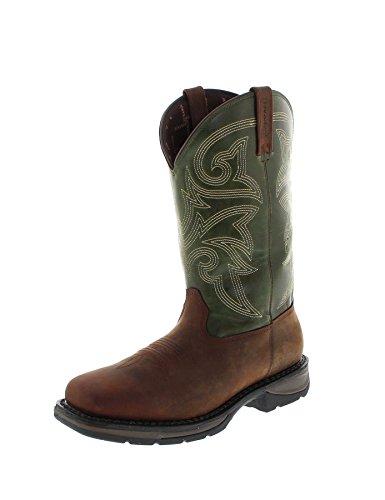 Durango Boots Western DWDB039 Brown Green/Herren Westernreitstiefel Braun/Waterproof Stiefel, Groesse:44.5 (11 US) -