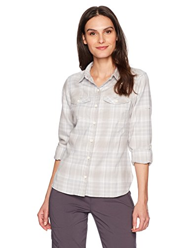 Columbia Silver Ridge? Long Sleeve Flannel Sea Salt Ombre Plaid L Plaid Salt