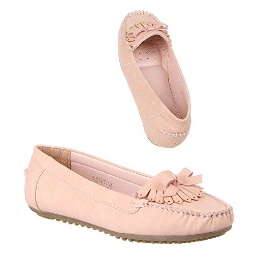 Damen Schuhe, B805-BL, MOKASSINS Rosa