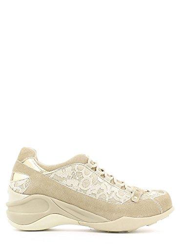 Fornarina PEFSE8922WV8700 Sneakers Femme Suède/tissu Marron Taupe sabbia