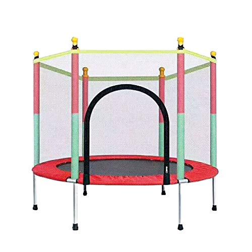 Indoor-Kindertrampolin 140 cm, Spaß- und Fitness-Trampolin für Kinder ab 3 Jahren, zur Verwendung als Indoor-Trampolin, unglaublich sicher mit Netz und Bezug