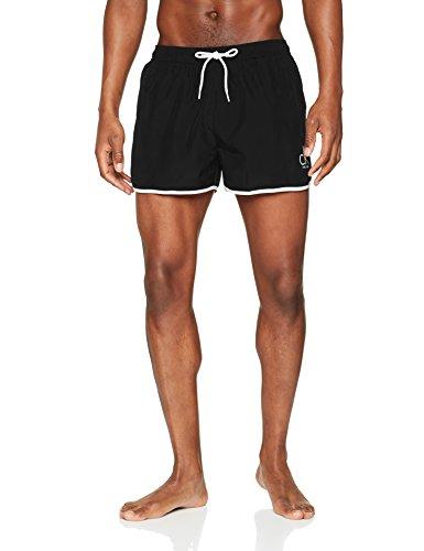 Calvin Klein Herren Short Runner Badehose, Schwarz (Black 001), X-Large
