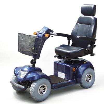 Scooter electrique senior Ceres 4 roues bleu