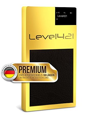 TARKAN - PREMIUM VERSION - GLOBAL WLAN GSM Hotspot // SIM-Karten frei in mehr als 180 Ländern // keine Roaming-Gebühren mehr // bis zu 10 Geräte per WLAN verbinden // Die PREMIUM Version wird 24 Karat vergoldet geliefert und hat einen schwarzen Ledergriff. (Gsm Unlocked Smartphone-europa)