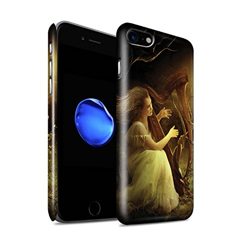 Offiziell Elena Dudina Hülle / Glanz Snap-On Case für Apple iPhone 8 / Melodie der Stille Muster / Trost der Musik Kollektion Melodie der Stille