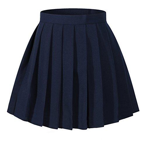 ohe Taille gefaltetes Kostüme Röcke (School Girl Plus Size Kostüme)