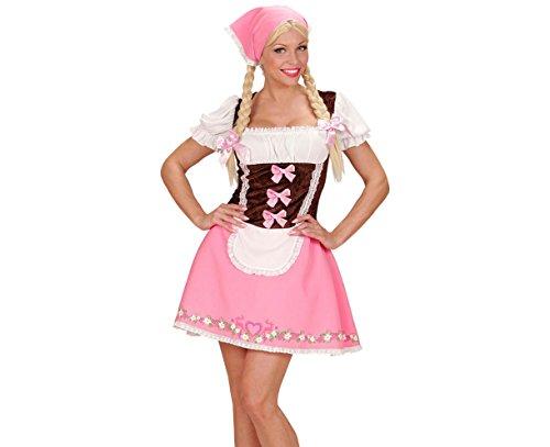 (Widmann - Erwachsenenkostüm Bayerin, Kleid mit Petticoat und Kopftuch)
